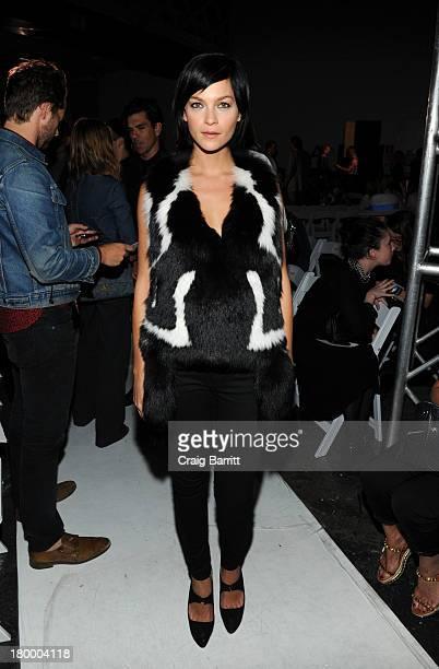Leigh Lezark attends the Altuzarra fashion show during MercedesBenz Fashion Week Spring 2014 at Industria Superstudio on September 7 2013 in New York...