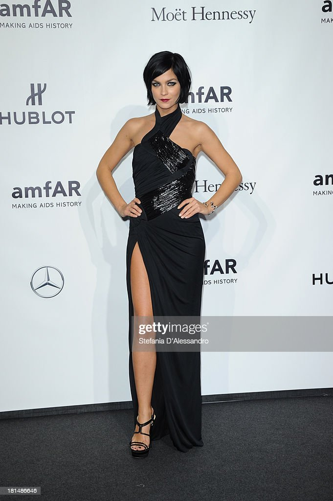 <a gi-track='captionPersonalityLinkClicked' href=/galleries/search?phrase=Leigh+Lezark&family=editorial&specificpeople=618872 ng-click='$event.stopPropagation()'>Leigh Lezark</a> attends the amfAR Milano 2013 Gala Dinner as part of Milan Fashion Week Womenswear Spring/Summer 2014 at La Permanente on September 21, 2013 in Milan, Italy.