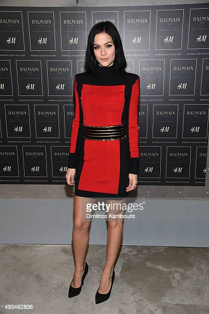 Leigh Lezark attends the BALMAIN X HM Collection Launch at 23 Wall Street on October 20 2015 in New York City