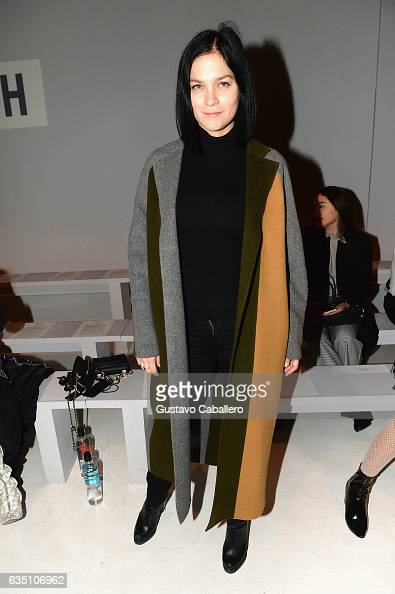 Leigh Lezark attends the Calvin Luo collection during New York Fashion Week The Shows at Gallery 3 Skylight Clarkson Sq on February 13 2017 in New...