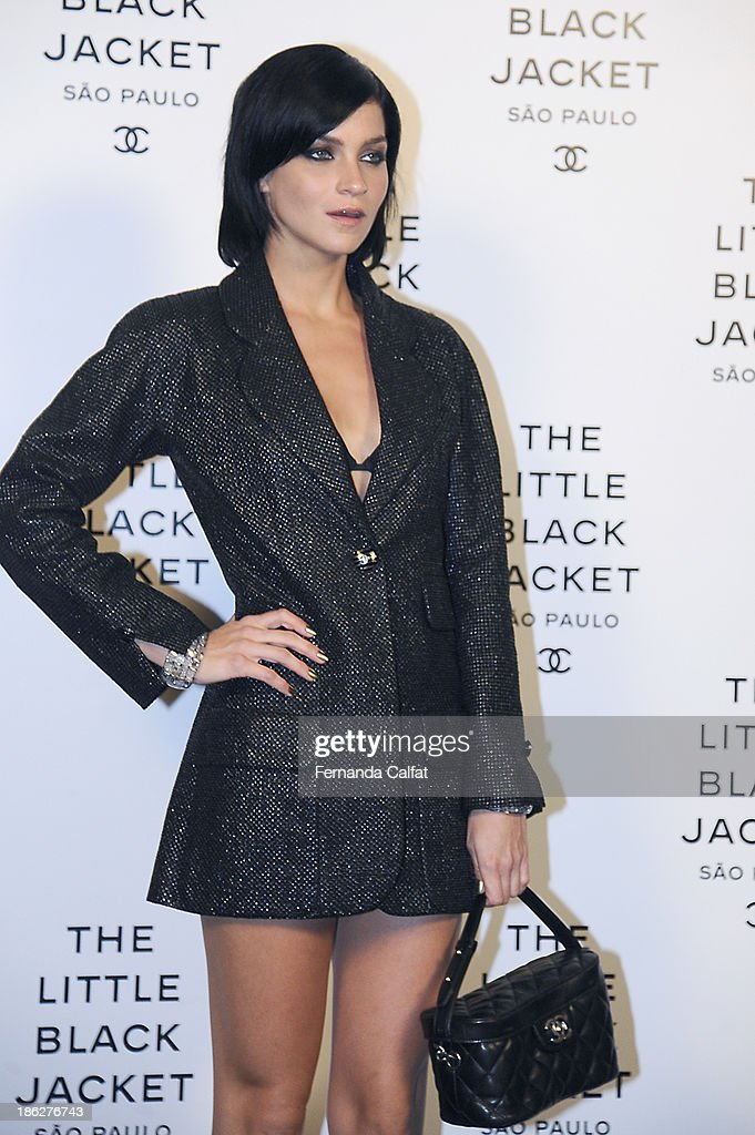 Leigh Lezark attends the Chanel Little Black Jacket event on October 29, 2013 in Sao Paulo, Brazil.