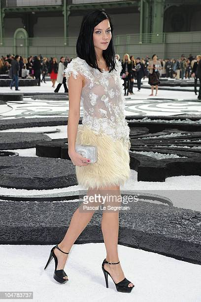 Leigh Lezark attends the Chanel Ready to Wear Spring/Summer 2011 show during Paris Fashion Week at Grand Palais on October 5 2010 in Paris France