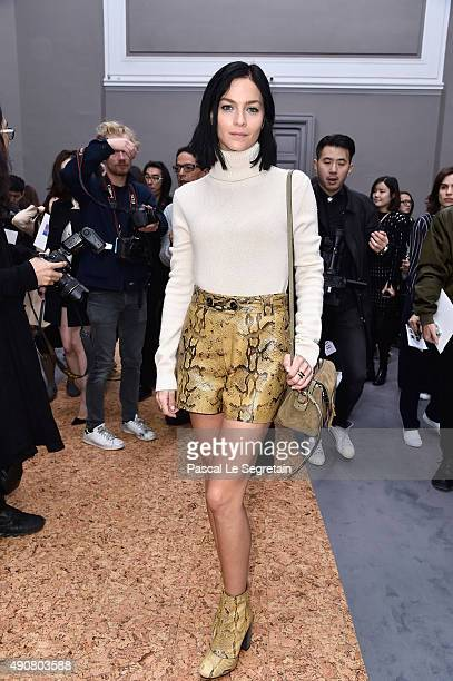 Leigh Lezark attends the Chloe show as part of the Paris Fashion Week Womenswear Spring/Summer 2016 on October 1 2015 in Paris France