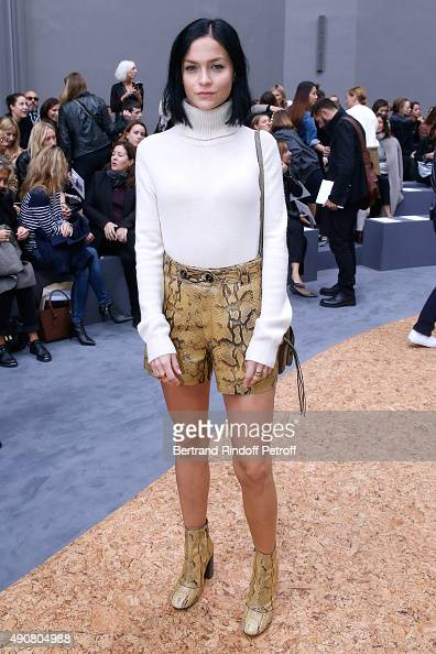 Leigh Lezark attends the Chloe show as part of the Paris Fashion Week Womenswear Spring/Summer 2016 Held at Grand Palais on October 1 2015 in Paris...