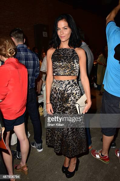 Leigh Lezark attends the Christian Siriano show during Spring 2016 New York Fashion Week at ArtBeam on September 12 2015 in New York City