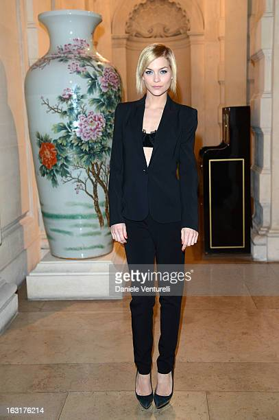 Leigh Lezark attends the 'CR Fashion Book Issue 2' Carine Roitfeld Cocktail as part of Paris Fashion Week at Hotel ShangriLa on March 5 2013 in Paris...