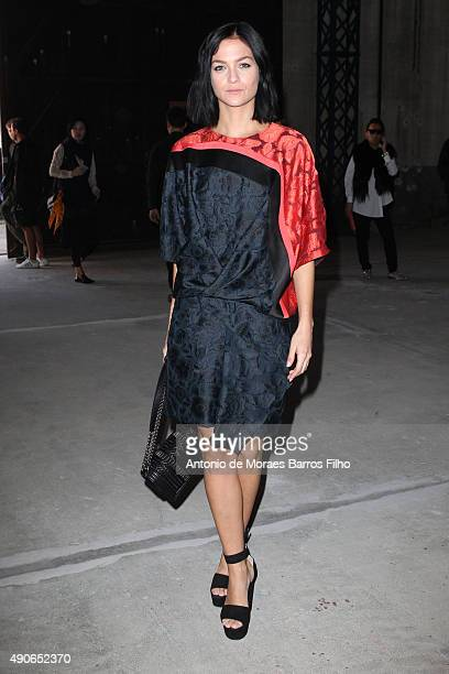 Leigh Lezark attends the Dries Van Noten show as part of the Paris Fashion Week Womenswear Spring/Summer 2016 on September 30 2015 in Paris France