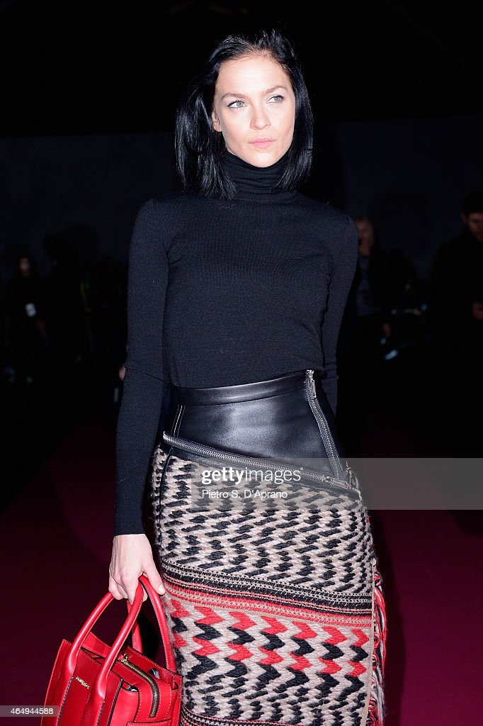 Leigh Lezark attends the Dsquared2 show during the Milan Fashion Week Autumn/Winter 2015 on March 2, 2015 in Milan, Italy.
