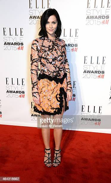 Leigh Lezark attends the Elle Style Awards 2015 at Sky Garden @ The Walkie Talkie Tower on February 24 2015 in London England