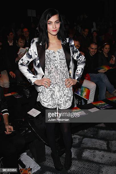 Leigh Lezark attends the JeanCharles de Castelbajac Ready to Wear show as part of the Paris Womenswear Fashion Week Fall/Winter 2011 at Le Carrousel...