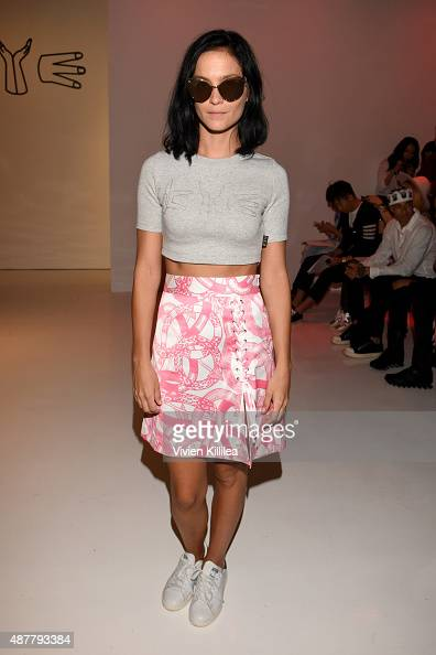 Leigh Lezark attends the Kye fashion show during Spring 2016 New York Fashion Week The Shows at The Space Skylight at Clarkson Sq on September 11...