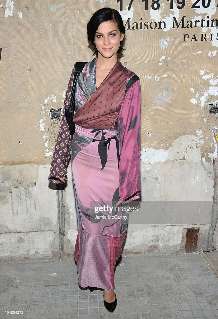 <a gi-track='captionPersonalityLinkClicked' href=/galleries/search?phrase=Leigh+Lezark&family=editorial&specificpeople=618872 ng-click='$event.stopPropagation()'>Leigh Lezark</a> attends the Maison Martin Margiela with H&M global launch event at 5 Beekman on October 23, 2012 in New York City.