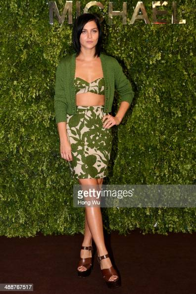 Leigh lezark attends the Michael Kors Kerry Centre Flagship Store opening ceremony on May 8 2014 in Shanghai China