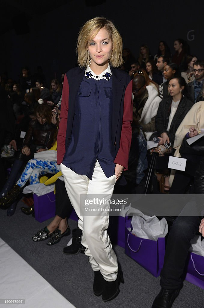Leigh Lezark attends the Noon By Noor Fall 2013 fashion show during Mercedes-Benz Fashion at The Studio at Lincoln Center on February 8, 2013 in New York City.