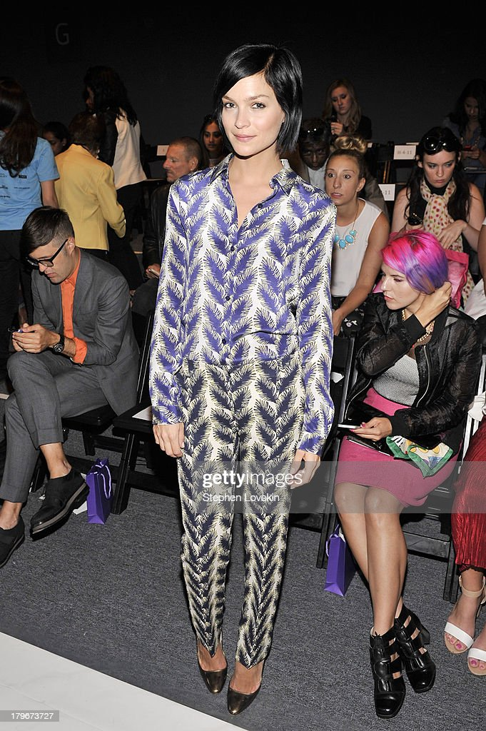 DJ Leigh Lezark attends the Noon By Noor Spring 2014 fashion show during Mercedes-Benz Fashion Week at The Studio at Lincoln Center on September 6, 2013 in New York City.