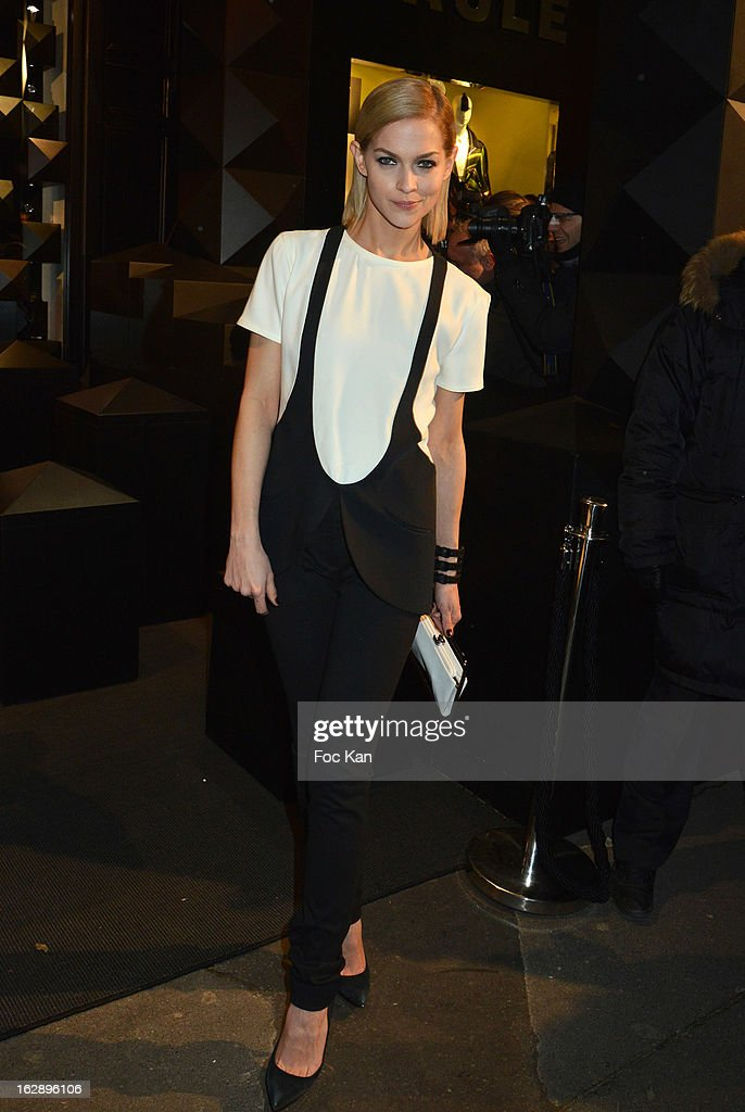 Leigh Lezark attends the opening of the Karl Lagerfeld concept store during Paris Fashion Week Fall/Winter 2013 at Karl Lagerfeld Concept Store Saint Germain on February 28, 2013 in Paris, France.