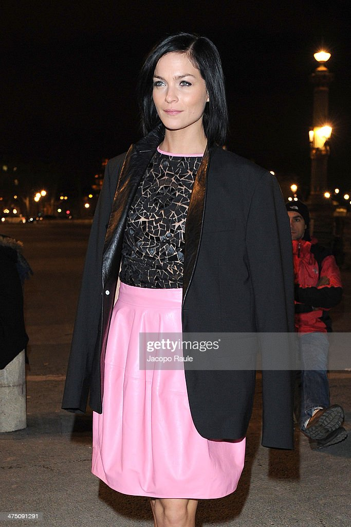 Leigh Lezark attends the Vionnet show as part of the Paris Fashion Week Womenswear Fall/Winter 2014-2015 on February 26, 2014 in Paris, France.