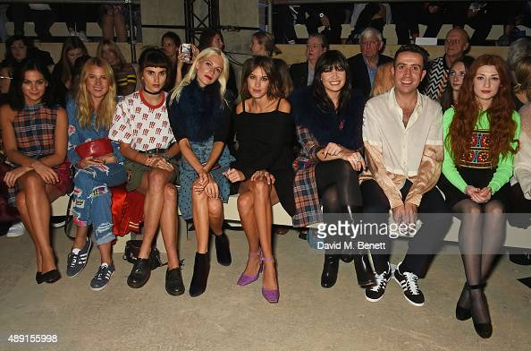 Leigh Lezark Dree Hemingway Langley Fox Hemingway Poppy Delevingne Alexa Chung Daisy Lowe Nick Grimshaw and Nicola Roberts attend the House Of...