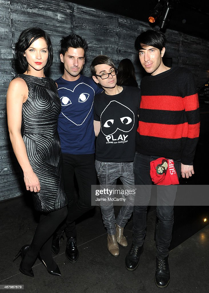 Leigh Lezark Geordon Nicol designer Christian Siriano and Greg Krelenstein attend Christian Siriano private dinner and after party during...