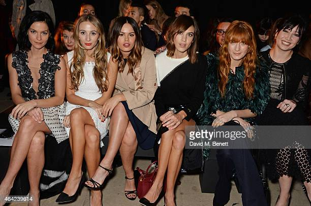 Leigh Lezark Harley Viera Newton Atlanta de Cadenet Taylor Alexa Chung Florence Welch and Daisy Lowe attend the Erdem show during London Fashion Week...