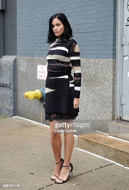 Leigh Lezark is seen outside the DVF show during New York Fashion Week 2016 on September 13 2015 in New York City