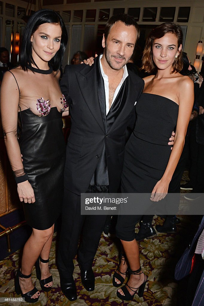 Leigh Lezark Tom Ford and Alexa Chung attend the launch of Tom Ford's new fragrance 'Noir Extreme' at The Chiltern Firehouse on January 12 2015 in...