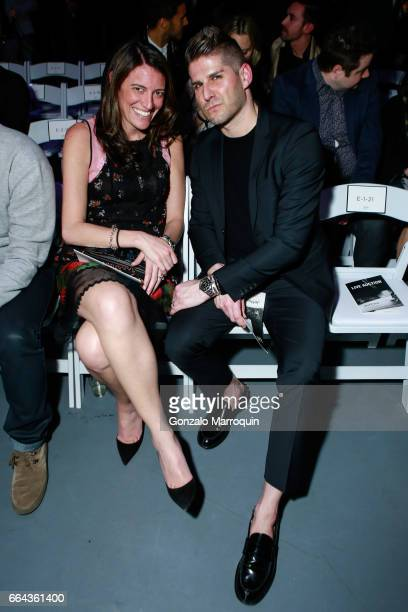 Leigh Manheim and Garret attended the Jeffrey Fashion Cares show at Intrepid SeaAirSpace Museum on April 3 2017 in New York City