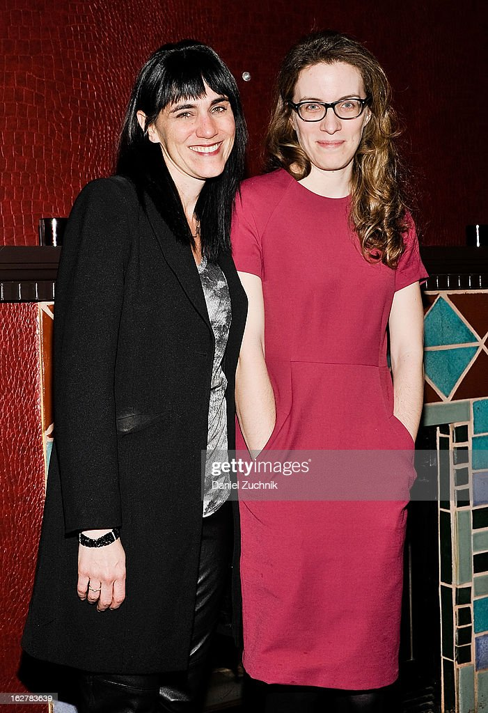 Leigh Silverman and Liz Flahive attend 'The Madrid' opening night party at Red Eye Grill on February 26, 2013 in New York City.