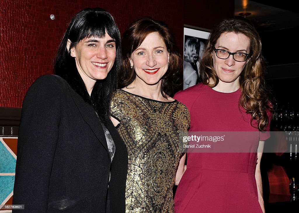 Leigh Silverman, Edie Falco and Liz Flahive attend 'The Madrid' opening night party at Red Eye Grill on February 26, 2013 in New York City.