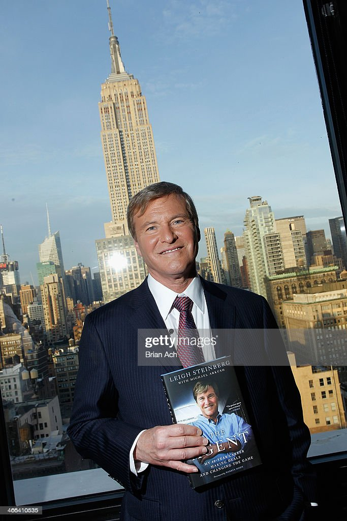 <a gi-track='captionPersonalityLinkClicked' href=/galleries/search?phrase=Leigh+Steinberg&family=editorial&specificpeople=221448 ng-click='$event.stopPropagation()'>Leigh Steinberg</a> poses at the 2014 <a gi-track='captionPersonalityLinkClicked' href=/galleries/search?phrase=Leigh+Steinberg&family=editorial&specificpeople=221448 ng-click='$event.stopPropagation()'>Leigh Steinberg</a> Super Bowl Party at 230 Fifth Avenue on February 1, 2014 in New York City.