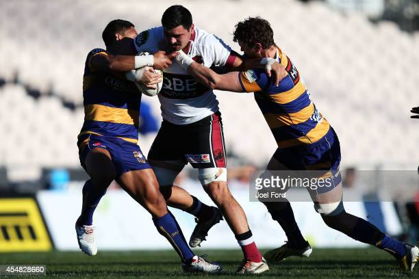 Leigh Thompson of North Harbour runs with the ball during the ITM Cup match between Bay of Plenty and North Harbour on September 7 2014 in Rotorua...