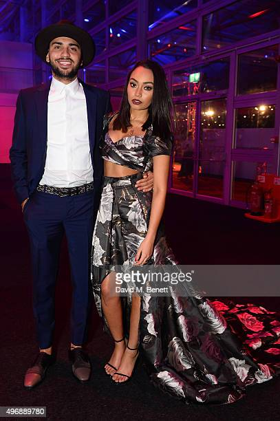 LeighAnne Pinnock and Guest attends the Battersea Dogs Cats Home Collars and Coats Gala Ball at Battersea Evolution on November 12 2015 in London...