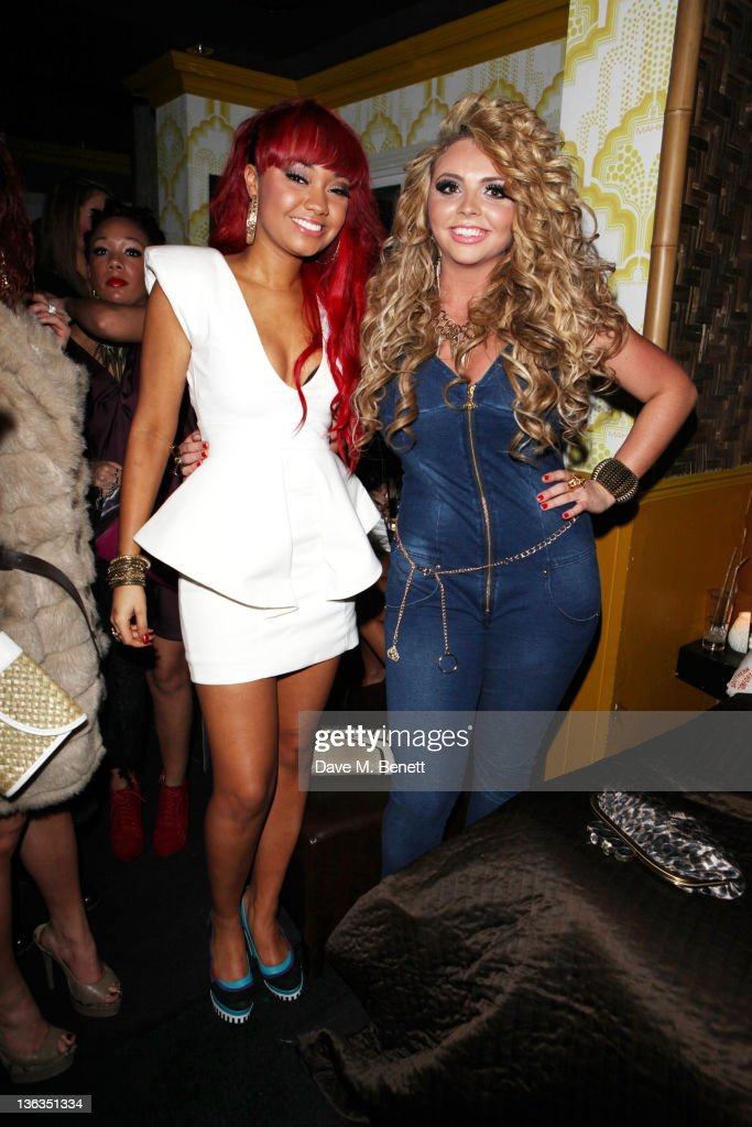 LeighAnne Pinnock and Jesy Nelson of Little Mix see in 2012 at the Mahiki Club on December 312011 in LondonEngland