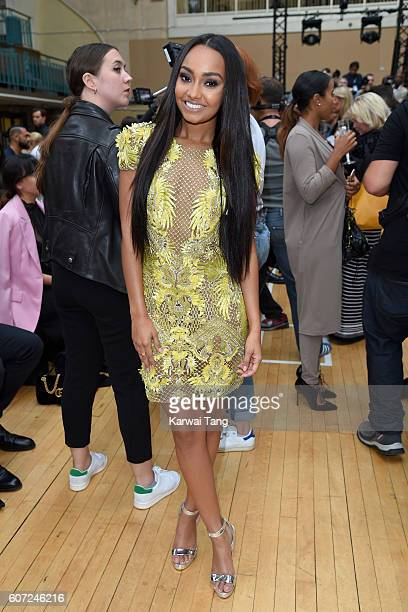 LeighAnne Pinnock attends the Julien MacDonald show during London Fashion Week Spring/Summer collections 2016/2017 on September 17 2016 in London...