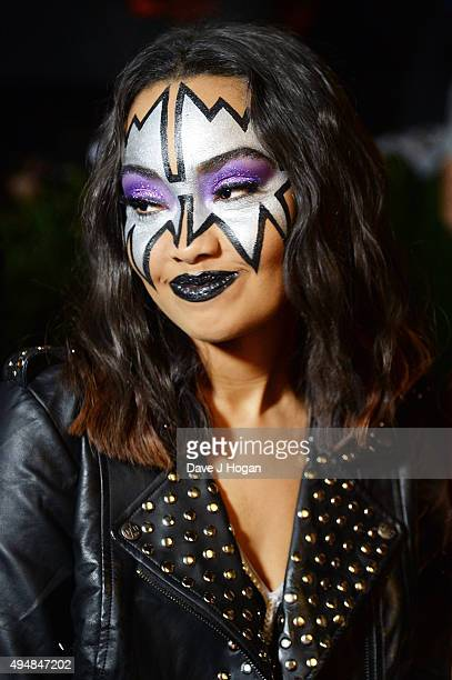 LeighAnne Pinnock attends the KISS FM Haunted House Party at SSE Arena on October 29 2015 in London England