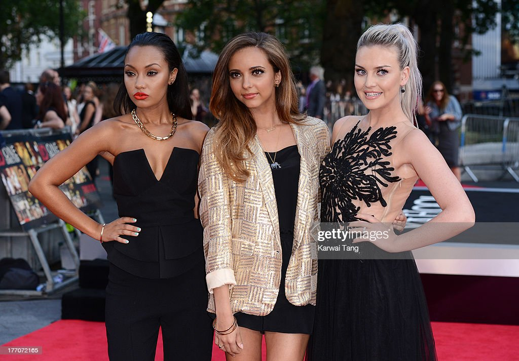 Leigh-Anne Pinnock, Jade Thirlwall and Perrie Edwards from Little Mix attend the World Premiere of 'One Direction: This Is Us' at Empire Leicester Square on August 20, 2013 in London, England.