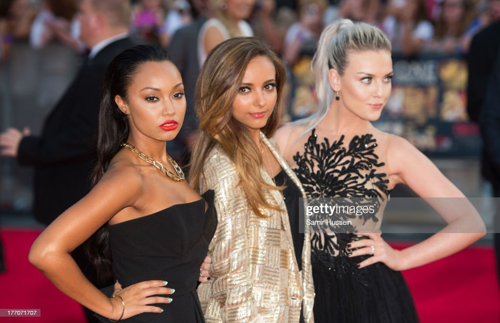 Leigh-Anne Pinnock, Jade Thirlwall and Perrie Edwards of Little Mix attend the World Premiere of 'One Direction: This Is Us' at Empire Leicester Square on August 20, 2013 in London, England.