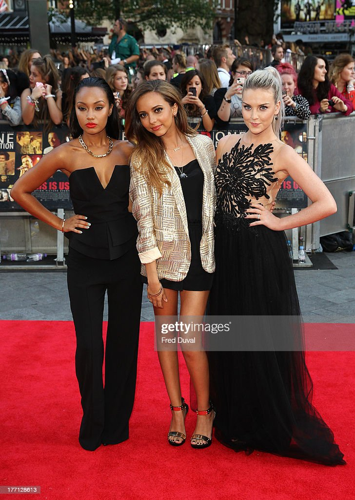Leigh-Anne Pinnock, Jade Thirlwall and Perrie Edwards of Little Mix attends the World Premiere of 'One Direction: This Is Us' at Empire Leicester Square on August 20, 2013 in London, England.