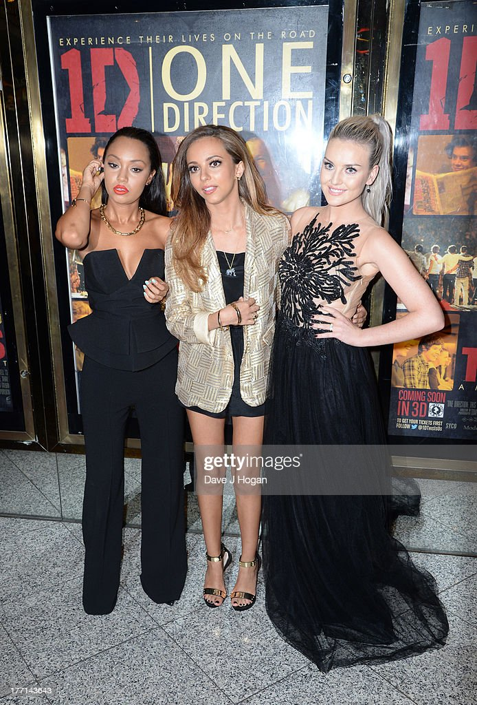 Leigh-Anne Pinnock, Jade Thirlwall and Perrie Edwards of Little Mix attend the World Premiere of 'One Direction: This Is Us 3D' at Empire Leicester Square on August 20, 2013 in London, England.