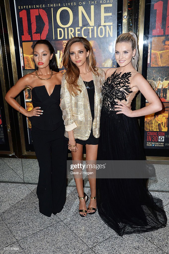 Leigh-Anne Pinnock, Jade Thirlwall and Perrie Edwards of Little Mix attend the world premiere of 'One Direction - This Is Us' at The Empire Leicester Square on August 20, 2013 in London, England.
