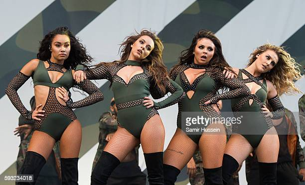LeighAnne Pinnock Jade Thirlwall Jade Thirlwall Perrie Edwards of Little Mix perform at V Festival at Hylands Park on August 21 2016 in Chelmsford...