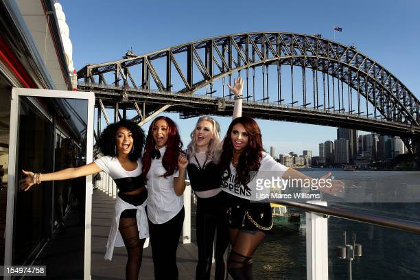 LeighAnne Pinnock Jade Thirlwall Perrie Edwards and Jesy Nelson of 'Little Mix' meet fans at Luna Park on October 29 2012 in Sydney Australia