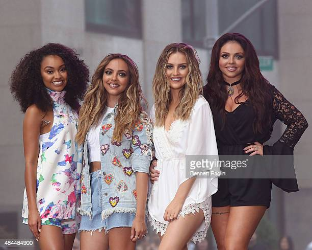 LeighAnne Pinnock Jade Thirlwall Perrie Edwards and Jesy Nelson of Little Mix perform on NBC's 'Today' at Rockefeller Plaza on August 19 2015 in New...