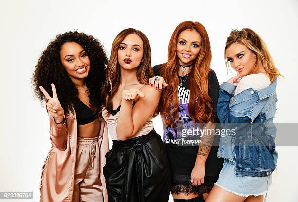 SYDNEY NSW LeighAnne Pinnock Jade Thirwall Jesy Nelson and Perrie Edwards of Little Mix poses during a photo shoot in Sydney New South Wales