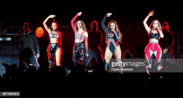 LeighAnne Pinnock Jessica Louise Nelson Jade Amelia Thirlwall and Perrie Louise Edwards of the British band Little Mix perform live on stage during a...