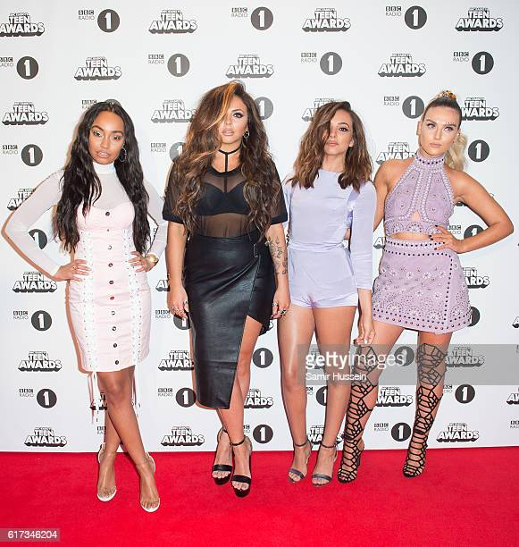 LeighAnne Pinnock Jesy Nelson Jade Thirlwall Perrie Edwards of Little Mix attend BBC Radio 1's Teen Awards at SSE Arena Wembley on October 23 2016 in...