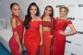 LeighAnne Pinnock Jesy Nelson Jade Thirwell and Perrie Edwards of Little Mix attend the Glamour Women Of The Year awards at Berkeley Square Gardens...