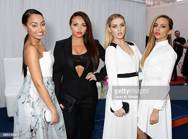 LeighAnne Pinnock Jesy Nelson Perrie Edwards and Jade Thirlwall of Little Mix attend the Glamour Women of the Year Awards in Berkeley Square Gardens...