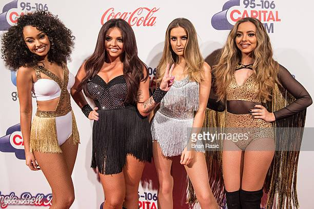 LeighAnne Pinnock Jesy Nelson Perrie Edwards and Jade Thirlwall of Little Mix attend the Jingle Bell Ball at The O2 Arena on December 5 2015 in...