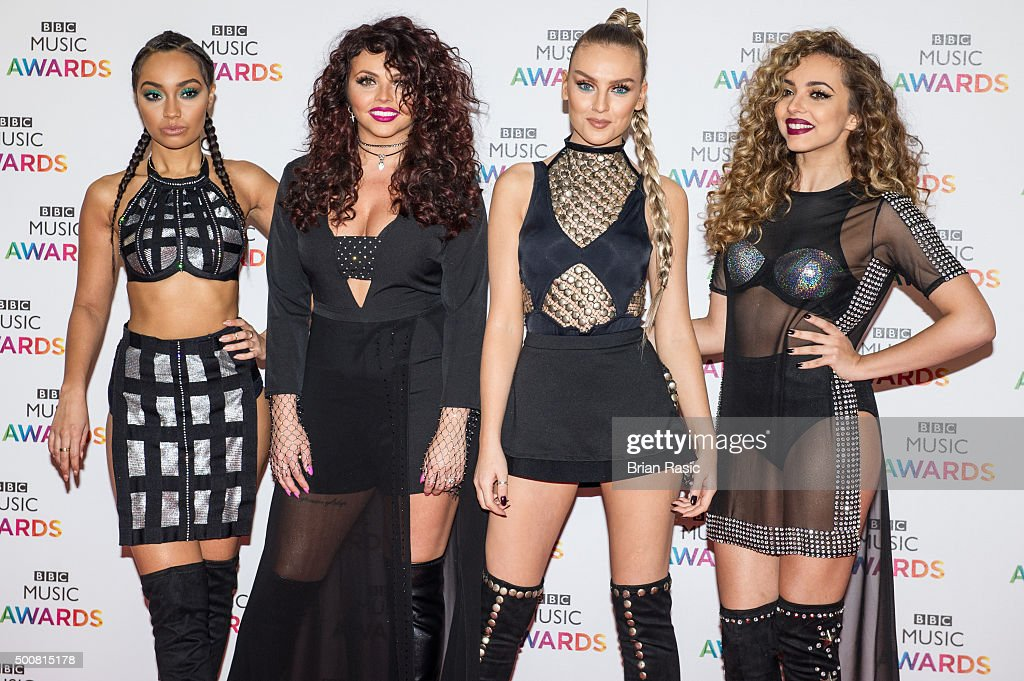 LeighAnne Pinnock Jesy Nelson Perrie Edwards and Jade Thirlwall of Little Mix attend the BBC Music Awards at Genting Arena on December 10 2015 in...